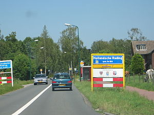 Hollandsche Rading - Entrance sign for Hollandsche Rading