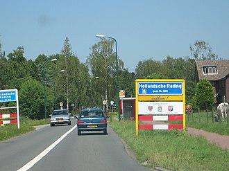 Hollandsche Rading - Entrance sign for Hollandsche Rading