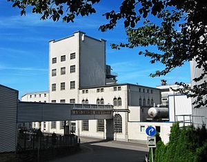 Karlsberg (brewery) - A view of the older parts of the brewery on Karlsbergstraße
