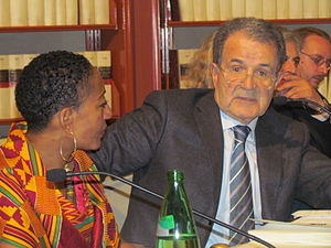 Convention People's Party - Samia Nkrumah, CPP Chairwoman, with the 52nd Prime Minister of Italy, Romano Prodi, delivering a speech to the Parliament of Italy.