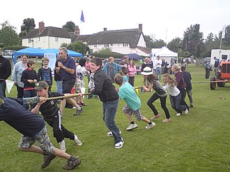 Horningsham - Tractor pull at 2009 Fete