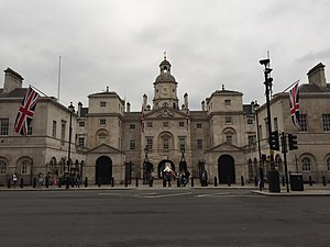 Whitehall - View of the Horse Guards Building from Whitehall, showing the three arches that link it to Horse Guards Parade