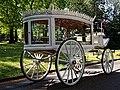 Horse drawn white hearse City of London Cemetery 2 lighter.jpg