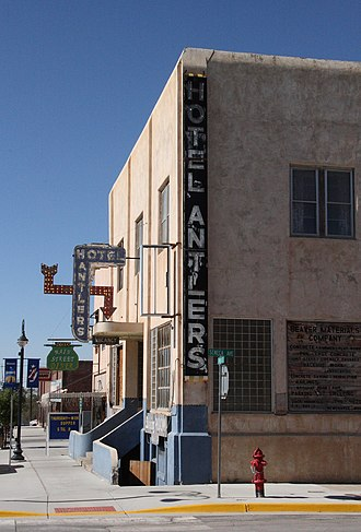 National Register of Historic Places listings in Weston County, Wyoming - Image: Hotel Antlers Newcastle Wyoming