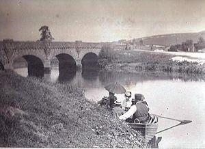Houghton, West Sussex - Image: Houghton Bridge ca 1895