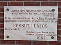 House of Culture, plaque of Lajos Kossuth, 2017 Abony.jpg