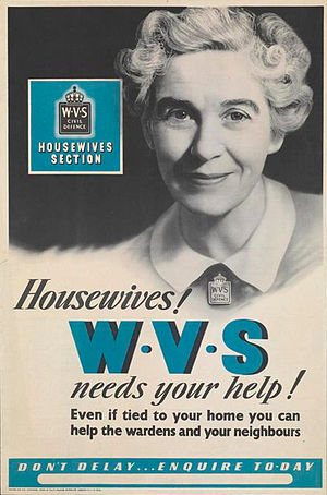 Stella Isaacs, Marchioness of Reading - Stella Isaacs, Marchioness of Reading in a WVS wartime poster