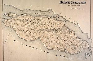 Howe Island - 1878 map of Howe Island