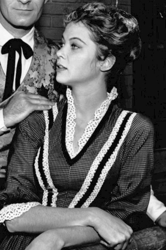 Louise Fletcher - Fletcher on the set of The Life and Legend of Wyatt Earp, 1961