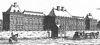 Huis ter Nieuwburg - Front view of the palace in 1665
