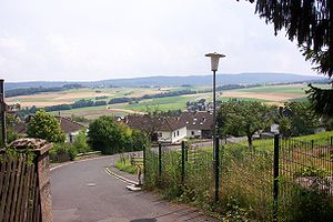 A typical view of the Hunsrück countryside.