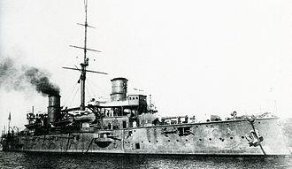 Japanese cruiser Kasuga - At Kure, 1904–05