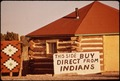 INDIAN-OWNED SHOP ON ONE SIDE OF ROUTE 66 CHALLENGES WHITE-OWNED SHOP ON THE OTHER - NARA - 544148.tif
