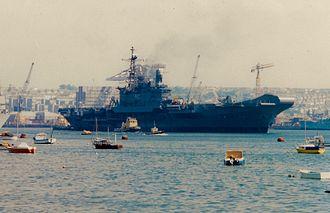 INS Viraat - Viraat departs Devonport on her delivery voyage to India.