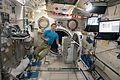 ISS-50 Thomas Pesquet next to the airlock inside the Kibo lab.jpg
