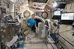 ISS-50 Thomas Pesquet next to the airlock inside the Kibo lab.jpg