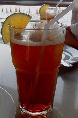 Iced tea - A lemon flavored iced tea in Manila.