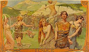"Merseburg Incantations - ""Idise"" (1905) by Emil Doepler."