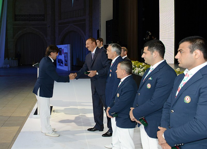 File:Ilham Aliyev met with the sportsmen who took part in the 30th Summer Olympic Games in London 4.jpg