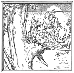 Illustration at page 354 in Grimm's Household Tales (Edwardes, Bell)