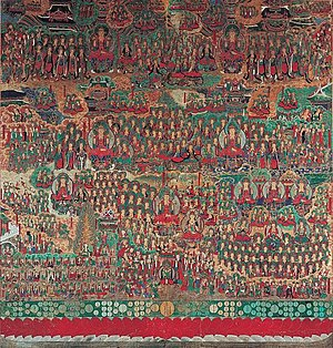 Avatamsaka Sutra - Illustration of the Avatamsaka Sutra at Songgwangsa in Suncheon, Korea.