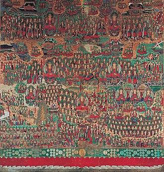 Avatamsaka Sutra - Illustration of the Avatamsaka Sutra at Songgwangsa in Suncheon, Korea.