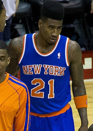 Iman Shumpert - Shumpert with the Knicks in March 2013
