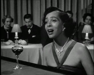 """Hadda Brooks - Brooks as the singer of """"I Hadn't Anyone Till You"""" in the film In a Lonely Place (1950)"""
