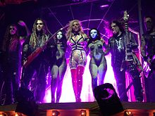 In This Moment after performing on the Black Widow Tour in 2014