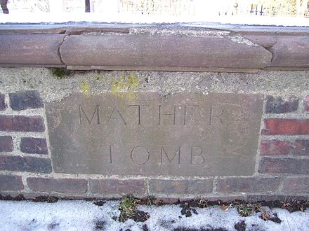 The Mather tomb in Copp's Hill Cemetery Increase Mather grave.jpg
