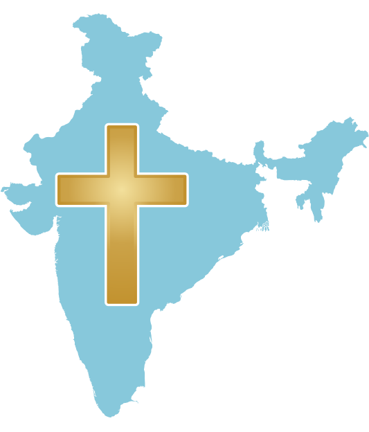 File:India with cross.svg