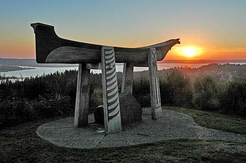 Indian Burial Canoe (Clatsop County, Oregon scenic images) (clatD0067)