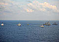 Indonesian navy, U.S. Navy and U.S. Coast Guard ships steam through the Java Sea June 6, 2012, while conducting ship formation exercises during the at-sea phase of Cooperation Afloat Readiness and Training 120606-N-HI414-230.jpg
