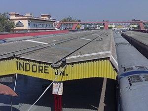 Indore Junction railway station - Platform number 3 of Indore Junction BG