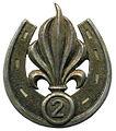 Le béret dans l'armée 106px-Insigne_de_b%C3%A9ret_du_2e_REI_Type_2