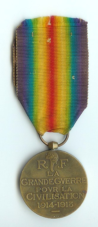 1914–1918 Inter-Allied Victory medal (France) - Image: Interalliée 14 18