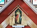 Interior of Saint Michael Archangel church in Puszcza Mariańska (brick church) - 07.jpg