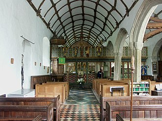 Blisland - Image: Interior view of the Church of St. Protus and St. Hyacinth at Blisland (June 2004)