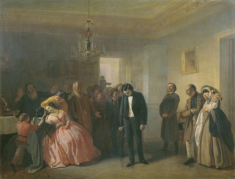 Файл: Прерванная помолвка А. Волкова (1860, GTG).JPG