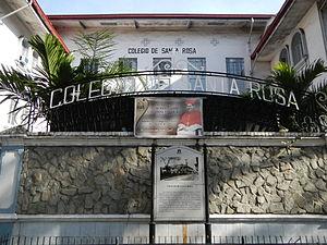 Colegio de Santa Rosa - Façade and marker of Colegio de Santa Rosa in Intramuros