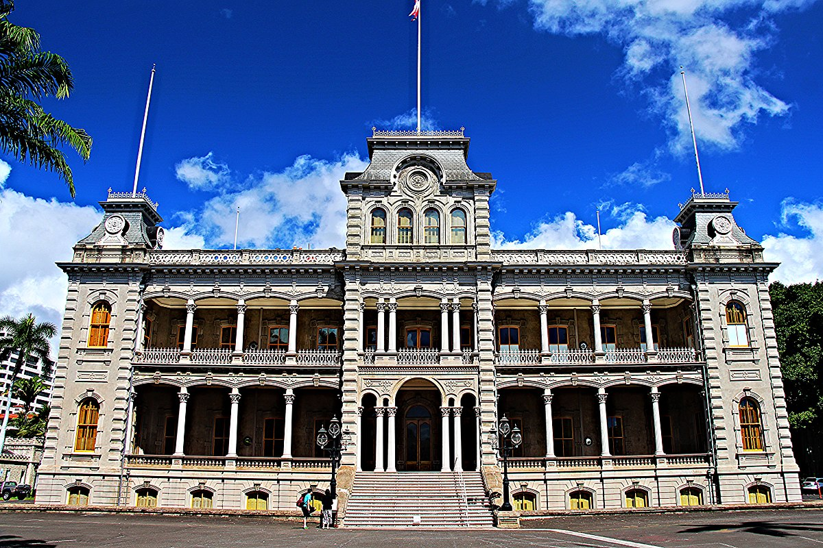 iolani palace Iolani palace, built in 1882 and the official residence of hawaii's monarchy, is a marvel of opulence, innovation, and political intrigue that tells of a time when their majesties, king kalakaua.
