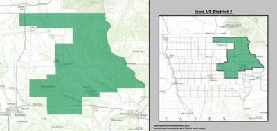Iowa's 1st congressional district - since January 3, 2013.