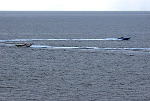 January 6, 2008: Iranian speedboats maneuver n...