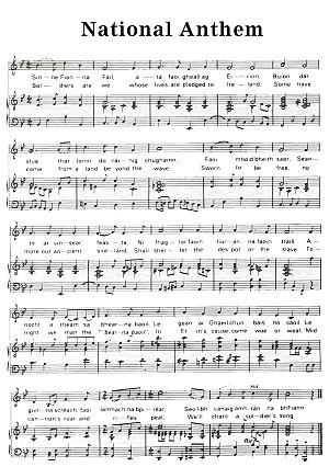 Amhrán na bhFiann - Image: Irish national anthem
