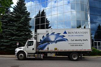 Iron Mountain (company) - An Iron Mountain Truck