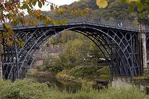 Thomas Farnolls Pritchard - The Iron Bridge designed by Pritchard and made by Abraham Darby's Coalbrookdale works