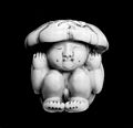 Ivory new born child in the state of flexion. Wellcome M0004170.jpg