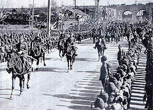 Japanese Central China Area Army - General Matsui enters Nanjing