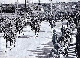 Nanjing Massacre - Iwane Matsui enters Nanjing.