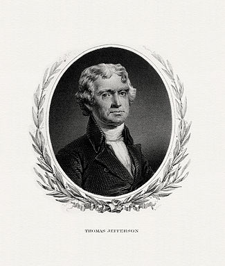 BEP engraved portrait of Jefferson as President.